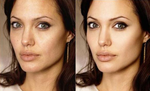 """Angelina Jolie: Será que precisava mesmo """"melhorar"""" o que já era naturalmente tão lindo?"""