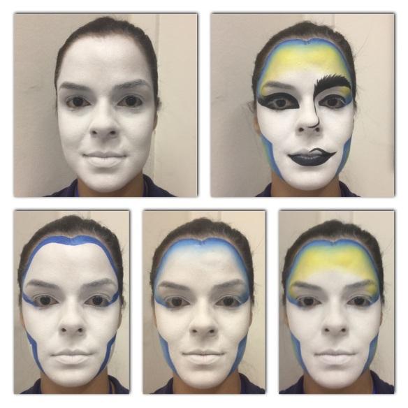 Exercício de estrutura de rosto com pr[atica do degradê