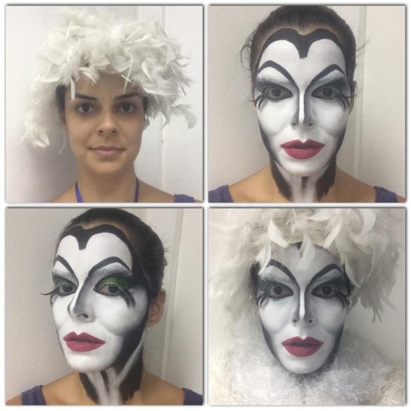 Exercício de criação de personagem a partir de um adereço. Minha inspiração foi a Cruella dos 101 Dálmatas, haha!
