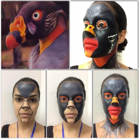 Exercício final: construção de personagem a partir da imagem de um pássaro. Ameeeeei o desafio!
